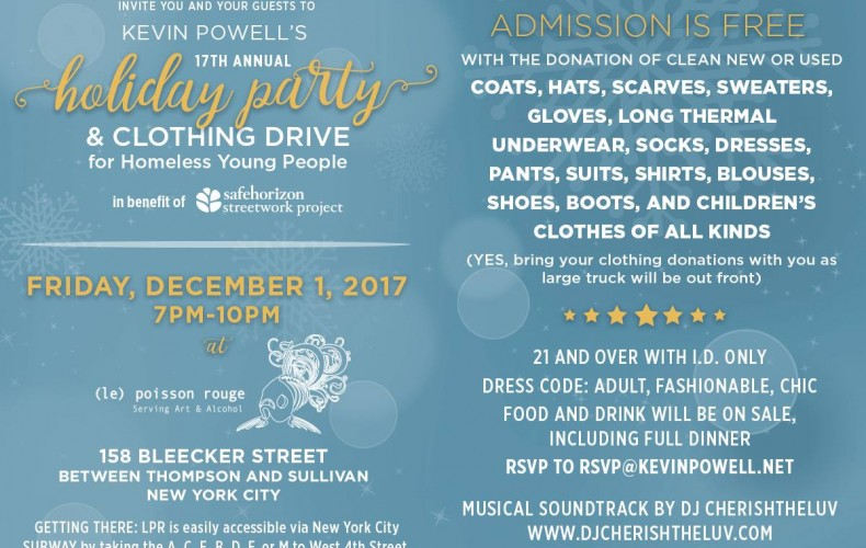 Kevin Powell's 17th Annual Holiday Party & Clothing Drive